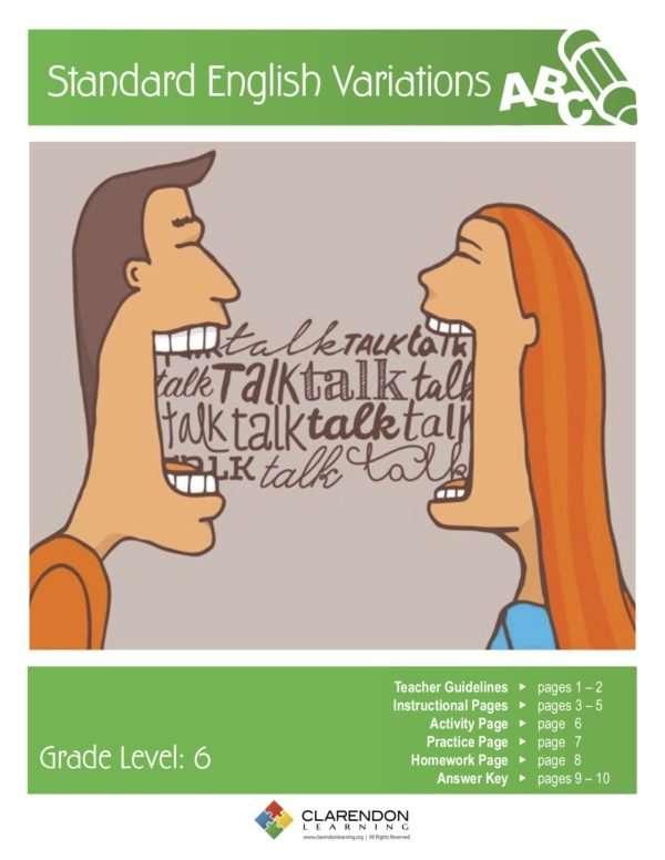 Standard English Variations Lesson Plan