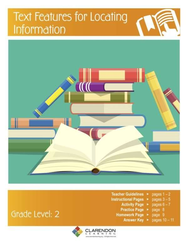 Text Features for Locating Information Lesson Plan