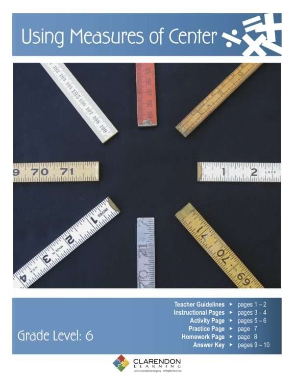 Using Measures of Center Lesson Plan