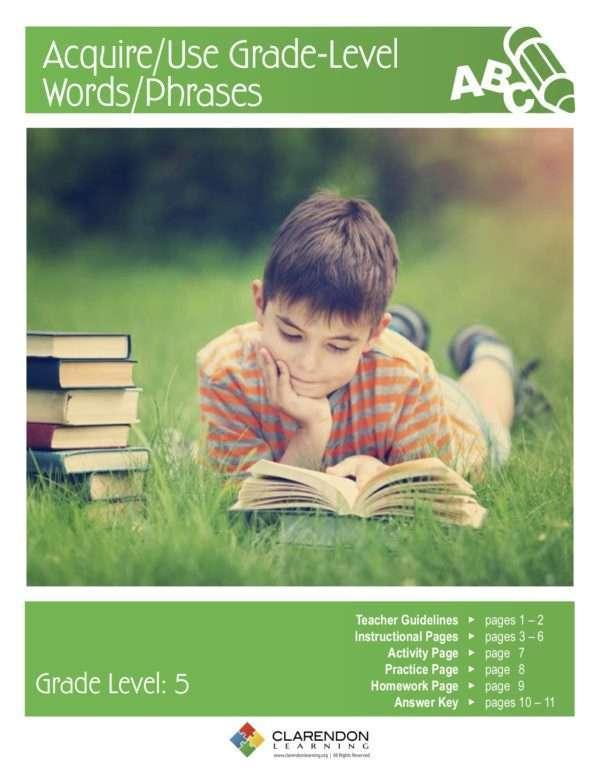 Acquire:Use Grade Level Words:Phrases Lesson Plan
