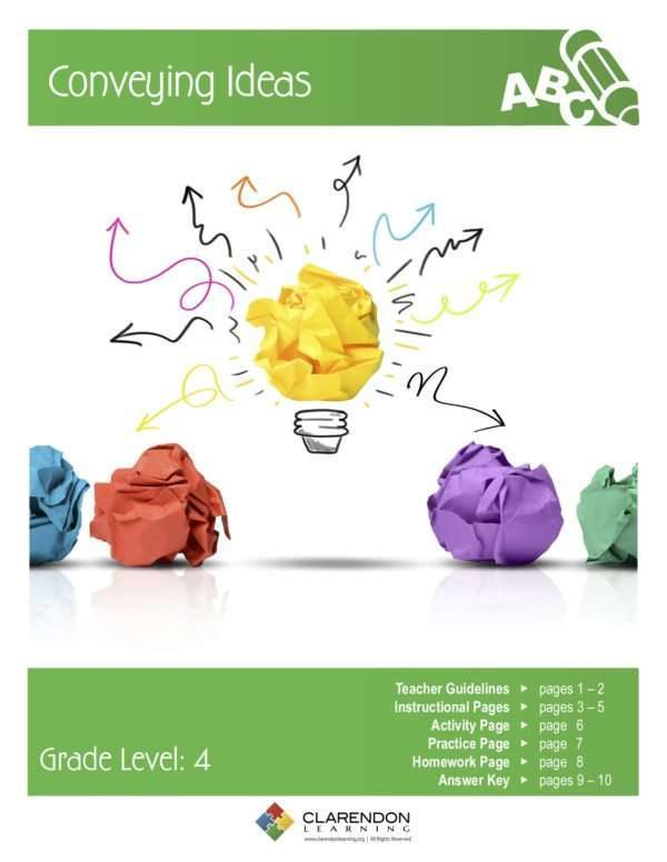 Conveying Ideas Lesson Plan
