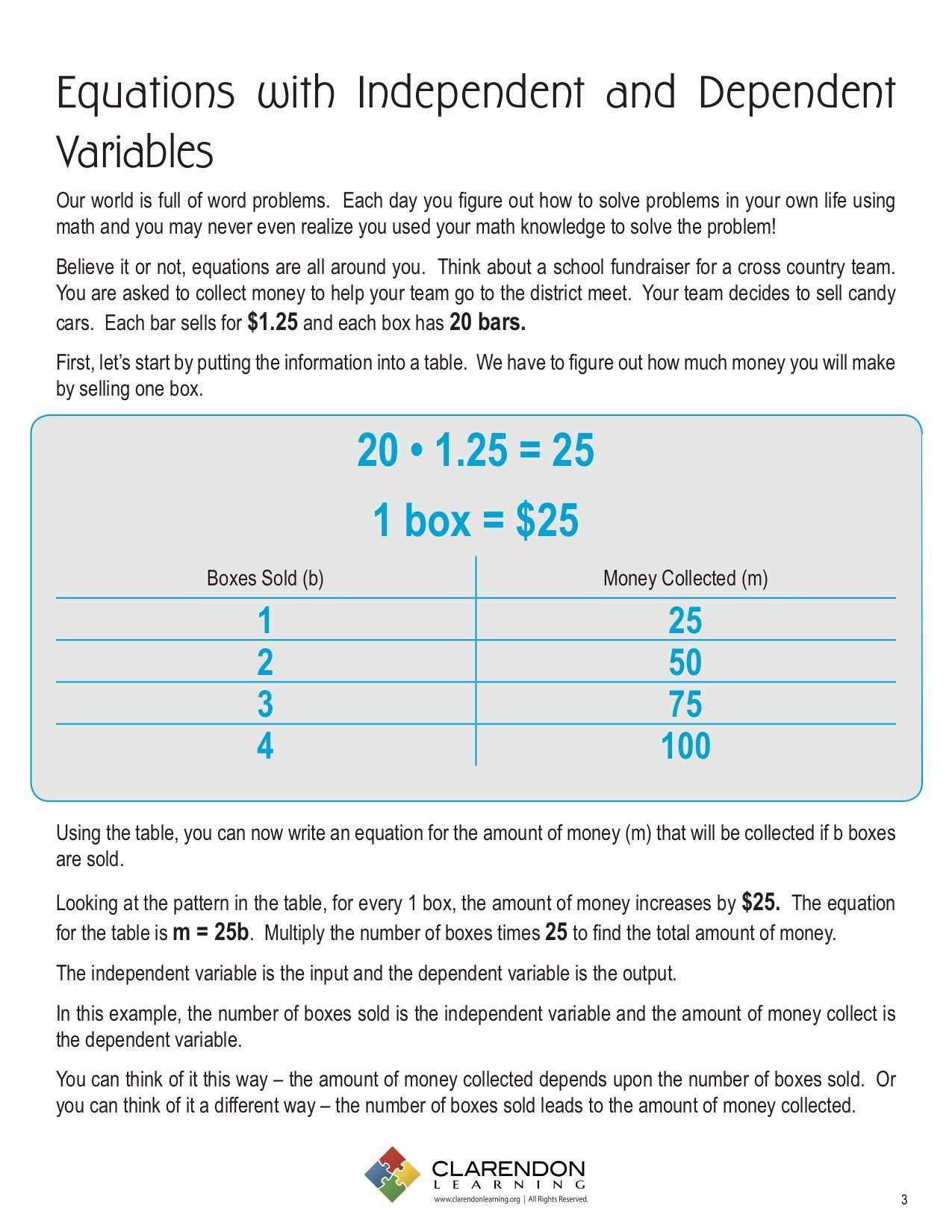 Equations with Independent and Dependent Variables - Learn Bright With Dependent And Independent Variables Worksheet
