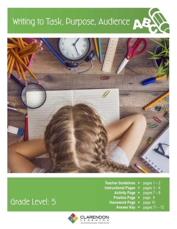 Writing to Task, Purpose, Audience Lesson Plan