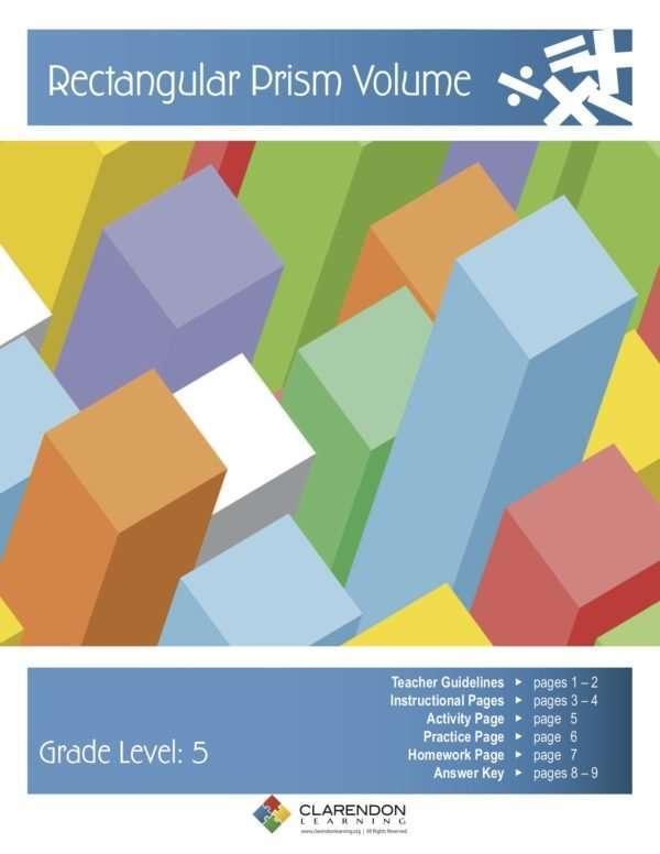 Rectangular Prism Volume Lesson Plan