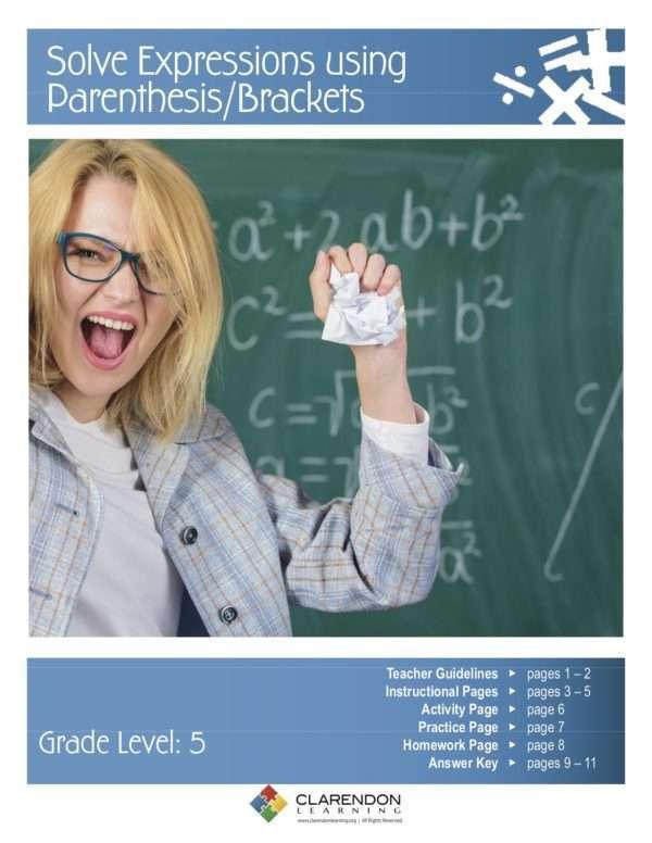 Solve Expressions using Parenthesis:Brackets Lesson Plan