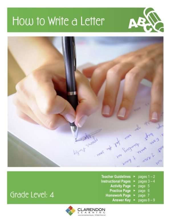 How to Write a Letter Lesson Plan