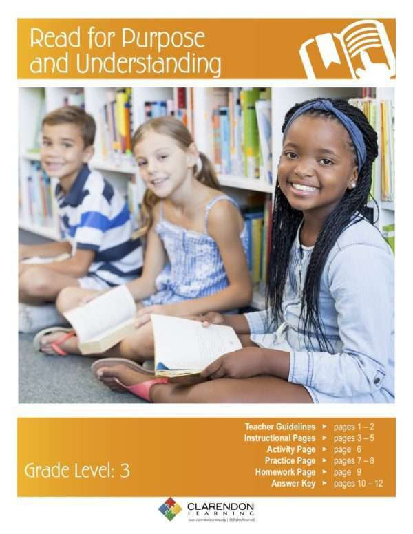 Read for Purpose and Understanding Lesson Plan